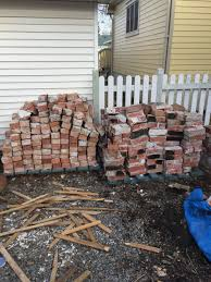 one lot of vintage brick from heritage home in high river