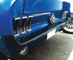 1965 mustang parts 1965 1966 mustang snug fit rear fiberglass bumper mustangs plus