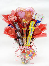 balloon and candy bouquets bunch 1 balloon assorted candy bars bouquet s day