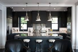 Black And White Kitchen Transitional Kitchen by 30 Best Black Kitchen Cabinets Kitchen Design Ideas With Black