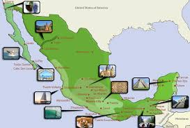 Page 162 mexican tourist attractions map