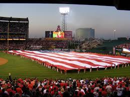 Big American Flags Alds Game 1 At Angel Stadium Blogging U0027bout Baseball