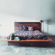 Wooden Platform Bed Frame Reclaimed Wood Platform Bed Barn Wood Bed Frame Modern Lodge