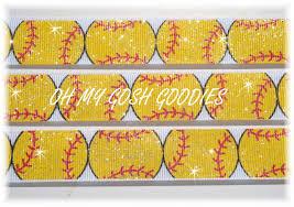 softball ribbon softball grosgrain ribbon ribbon softball ribbon yellow