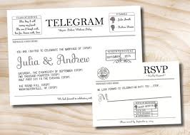 telegram wedding invitation vintage cameo telegram telegraph western union wedding