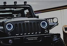 round led lights for jeep ijdmtoy jeep wrangler led headlights led halo rings