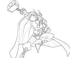 Thor 12 Superhéros  Coloriages à imprimer