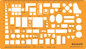 1 100 scale architectural drawing template stencil architect