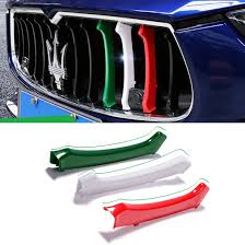 maserati ghibli grill amazon com grille trim 3pcs front grille decorative garnish trim
