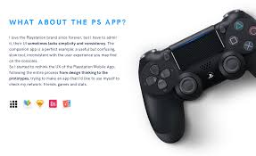 playstation app redesign on behance