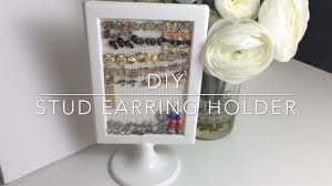 how to make an earring holder for studs diy stud earring holder jewelry organization