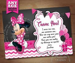 minnie mouse thank you cards thank you cards awesome minnie mouse photo thank you cards
