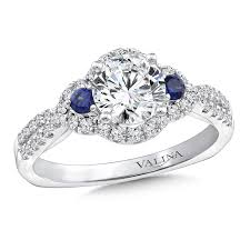 sapphire halo engagement rings blue sapphire halo engagement ring shannon jewelry