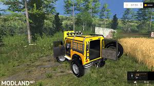 land rover mod land rover defender offroad v 2 0 mod for farming simulator 2015