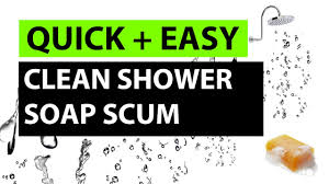 how to clean a glass shower door easy life hack youtube