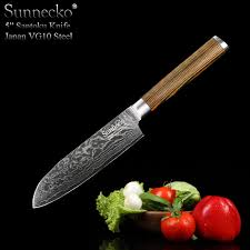 japanese steel kitchen knives shop sunnecko 5 inch fashion santoku knife japanese vg10