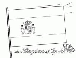 Flags Of The World Colouring Spain Flag Coloring Sheet Gulfmik 96923c630c44