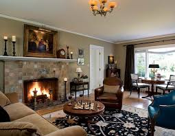 interior cozy living room with fireplace and tv decorating ideas