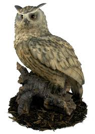 eagle owl resin garden ornament 121 59 garden4less uk shop