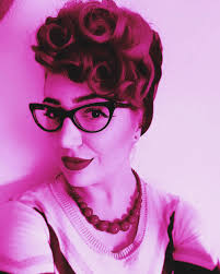 vintage updo hairstyle for short hair burlexe