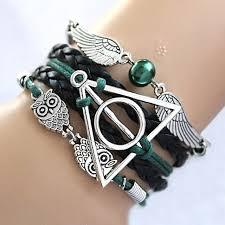 link bracelet charms images The deathly hallows wing dream infinity bracelet link bracelets jpg