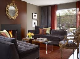 living room paint ideas with brown furniture grey walls brown