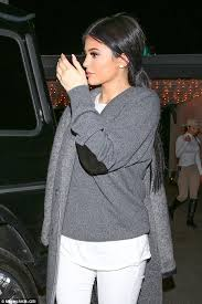 jenner sweater jenner dons slouchy grey sweater for low key dinner date