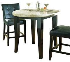 Marble Bistro Table And Chairs Steve Silver Monarch Marble Top 40 Inch Counter Height Table