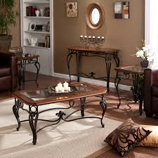 Livingroom Table Sets Furniture Of America Winslow 3 Piece Coffee Table Set Dark