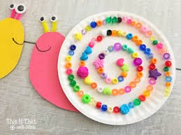paper plate snails craft for kids snail craft diy kids