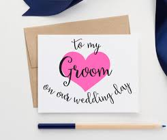 to my groom on our wedding day card to my to my groom on our wedding day cards wcs02am modern
