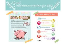Kids Coloring Table Two Great Table Manners For Kids Printables Imom