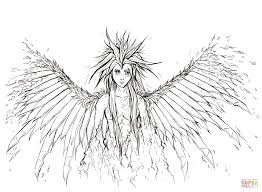 broken angel coloring page free printable coloring pages