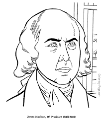 free printable coloring pages of us presidents james madison us president coloring pages social studies