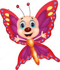 cute butterfly cartoon u2014 stock vector tigatelu 42368399