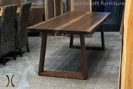 live edge outdoor table live edge and slab dining and conference tables and tops