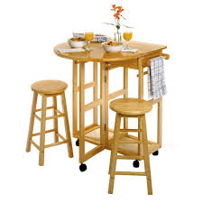 Kitchen Space Savers by Winsome Wood 89332 Space Saver Drop Leaf Kitchen Cart With 2