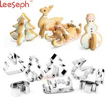 new year cookie cutters 3d christmas scenario cookie cutter set stainless steel snowman