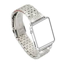 stainless steel bracelet strap images Women dress watchband for apple watch band 38mm 42mm crystal watch jpg