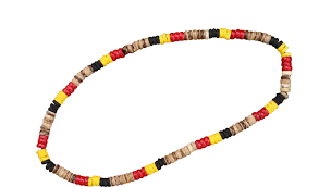 coloured bead necklace images Aboriginal stretch necklace 3 colour wooden bead jpg