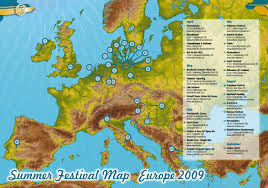Festival Map Summer Preview And European Summer Festival Map 2009