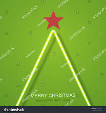 vector modern neon christmas tree background stock vector