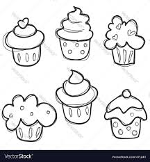 cupcake sketch download a free preview or high quality adobe