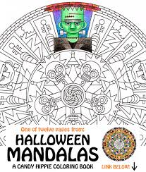 halloween mandala coloring frank u0027n u0027 friends