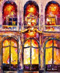 painting on glass windows afremov oil on canvas palette knife buy original paintings art