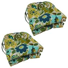 blazing needles floral stripe u shaped 16 inch outdoor chair