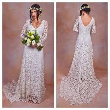 boho crochet rustic boho wedding dress simple crochet lace bohemian