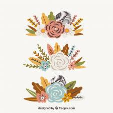 set of three vintage autumn ornaments vector free