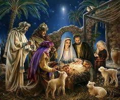 christmas manger she brought forth firstborn and wrapped him in swaddling