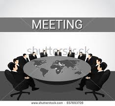 members of the round table meeting board directors negotiations round table stock vector 2018